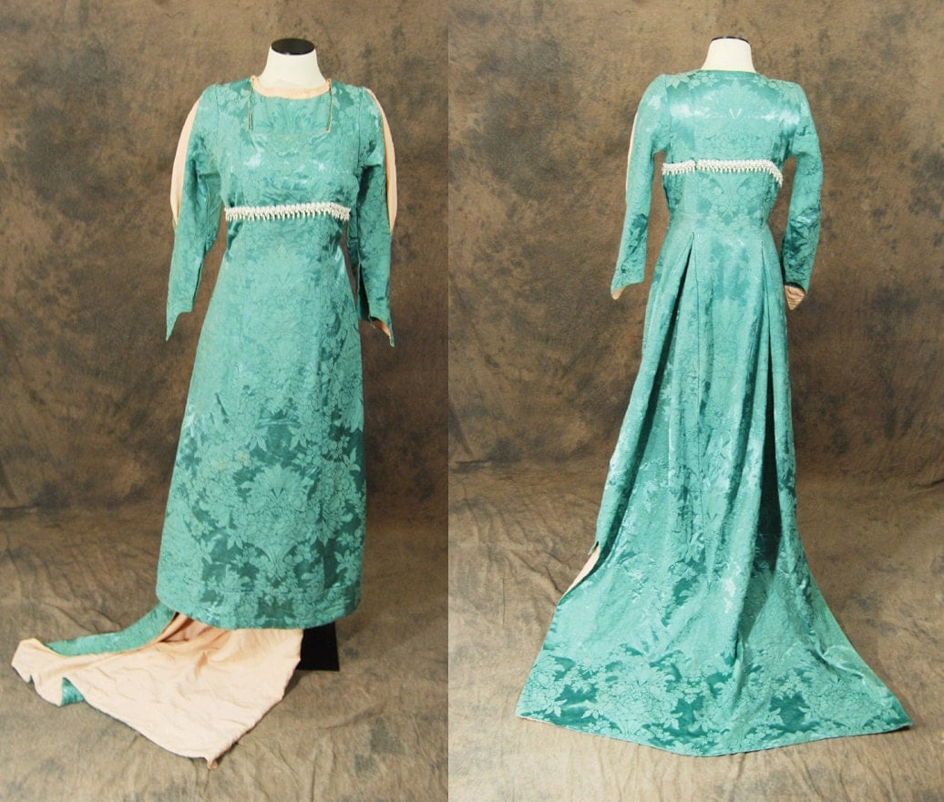vintage 60s Medieval Gown 1960s Theater Costume by jessamity