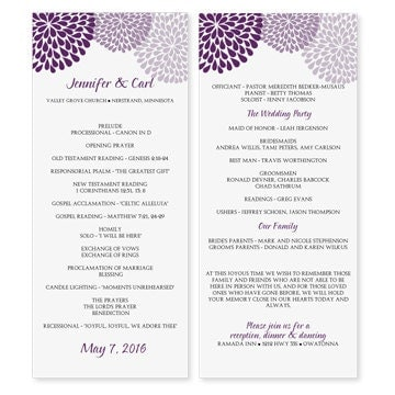 Wedding Program Template Download by DiyWeddingTemplates ...