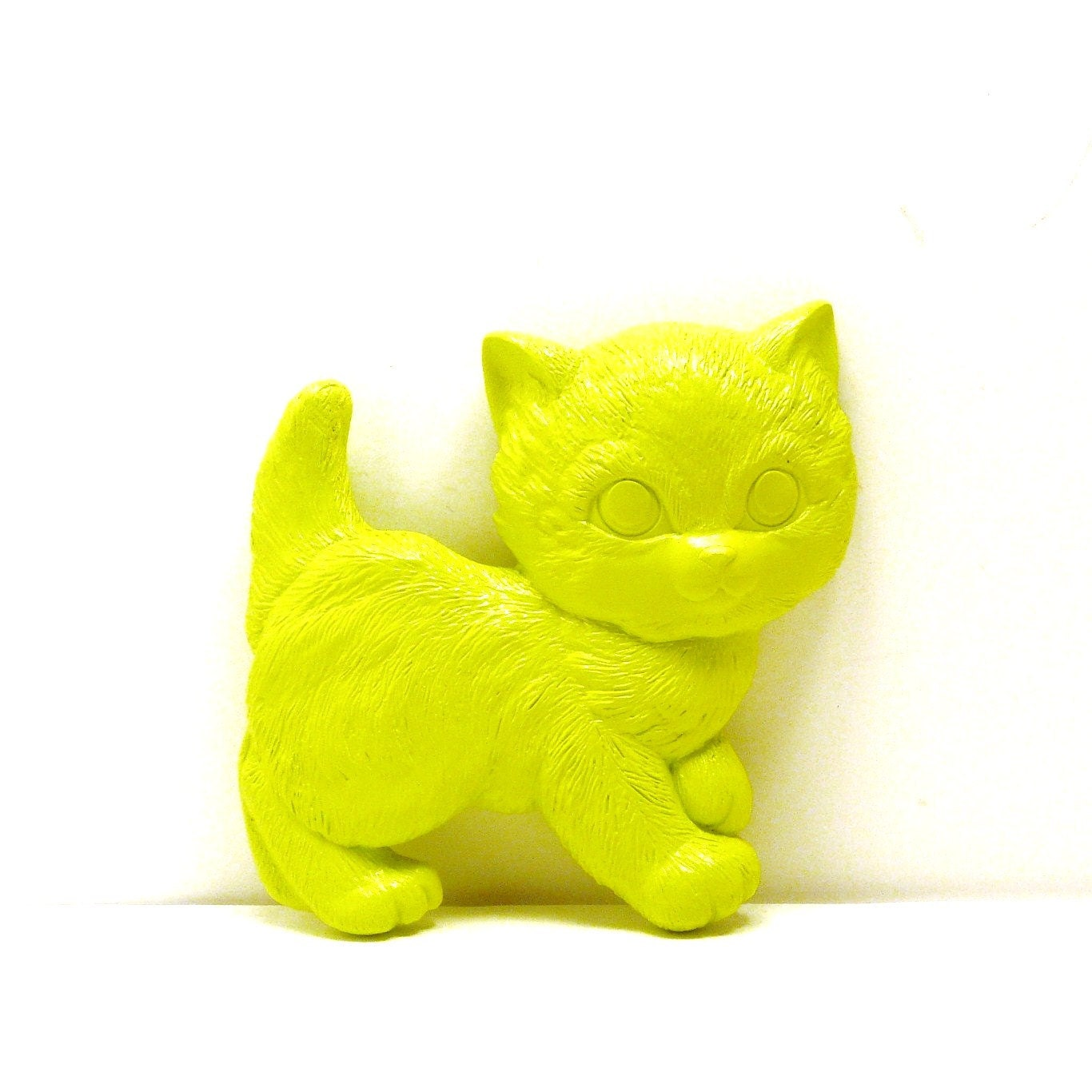 Cat wall hanging neon lime green home decor by nashpop for Lime green home decorations
