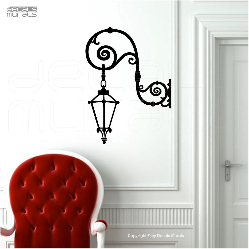Wall Art Stickers Not On The High Street : Wall decal hanging street lamp vinyl art stickers by
