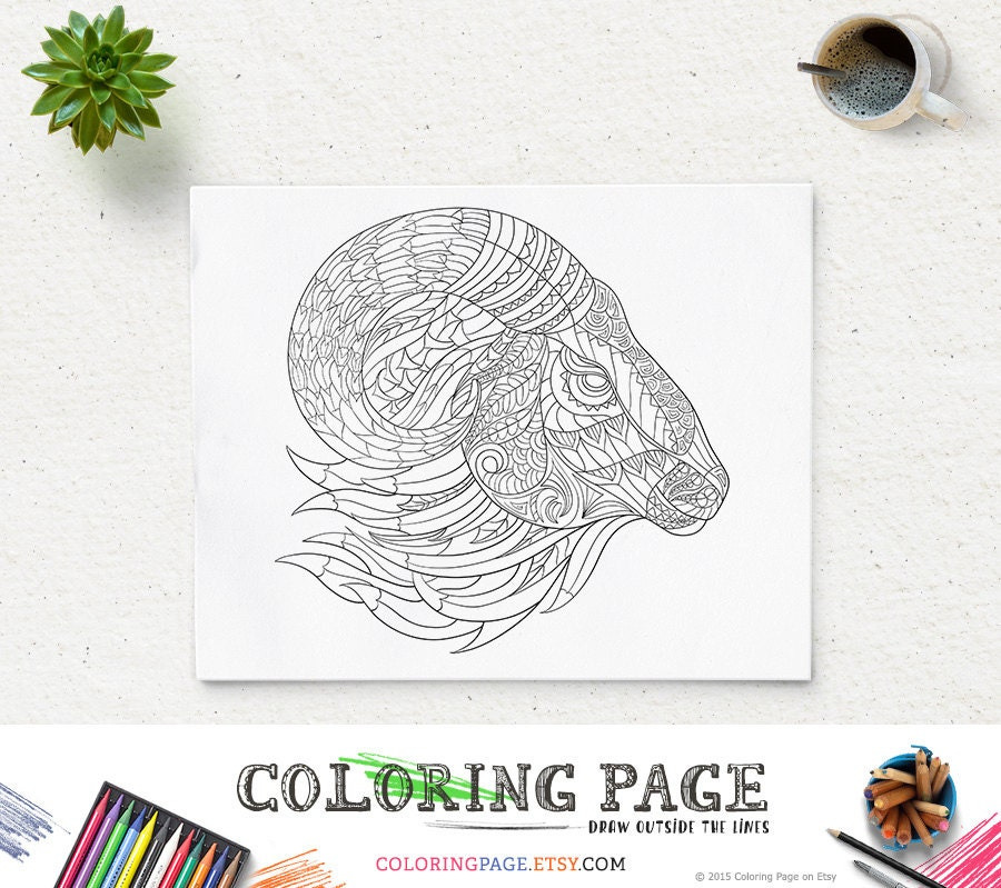 Printable Coloring Page Adult Coloring Art Therapy  Etsy
