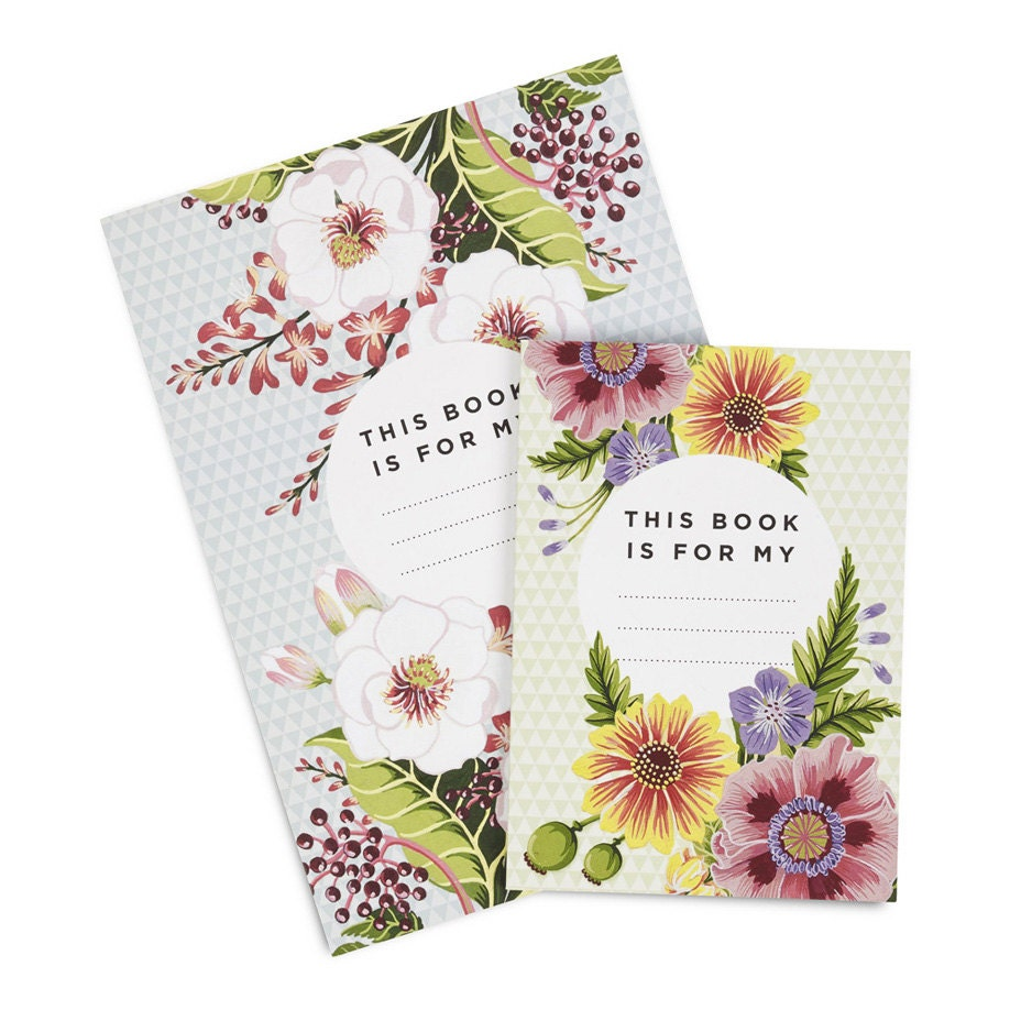 floral notebook etsy