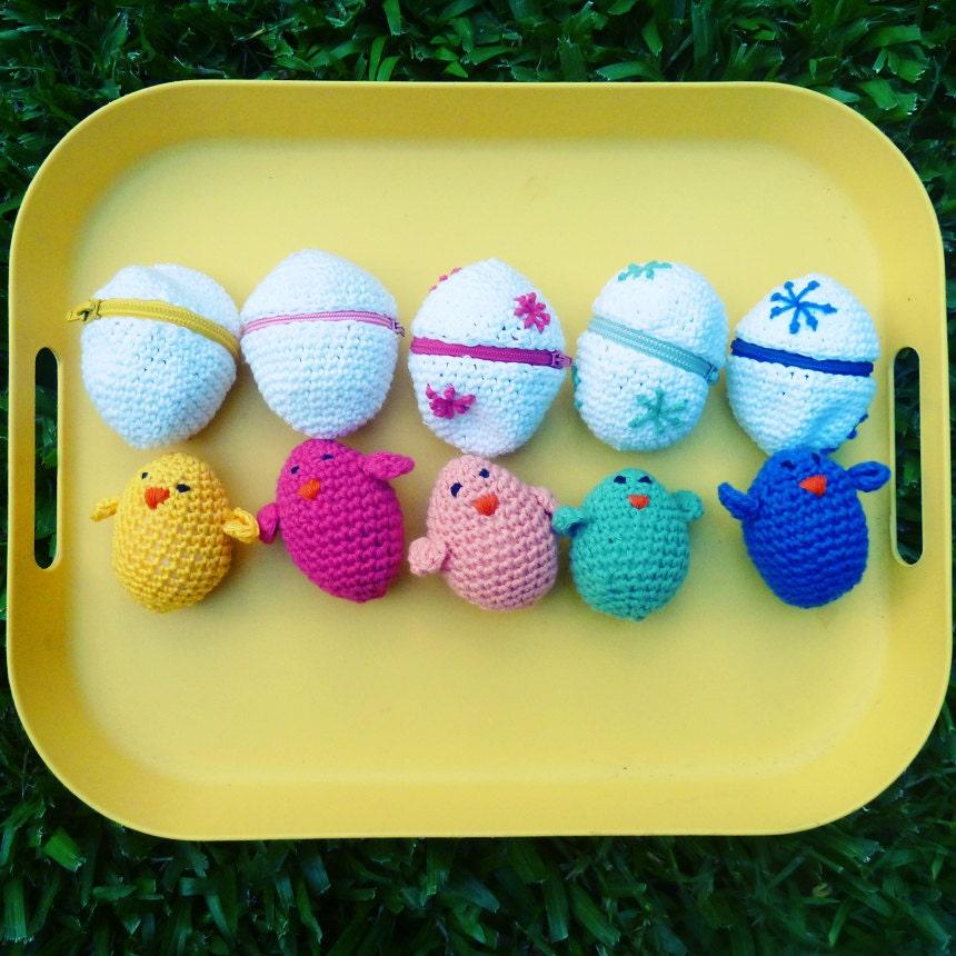 Amigurumi Easter Egg : Easter eggs & baby chicks Crochet Amigurumi Pattern PDF by ...