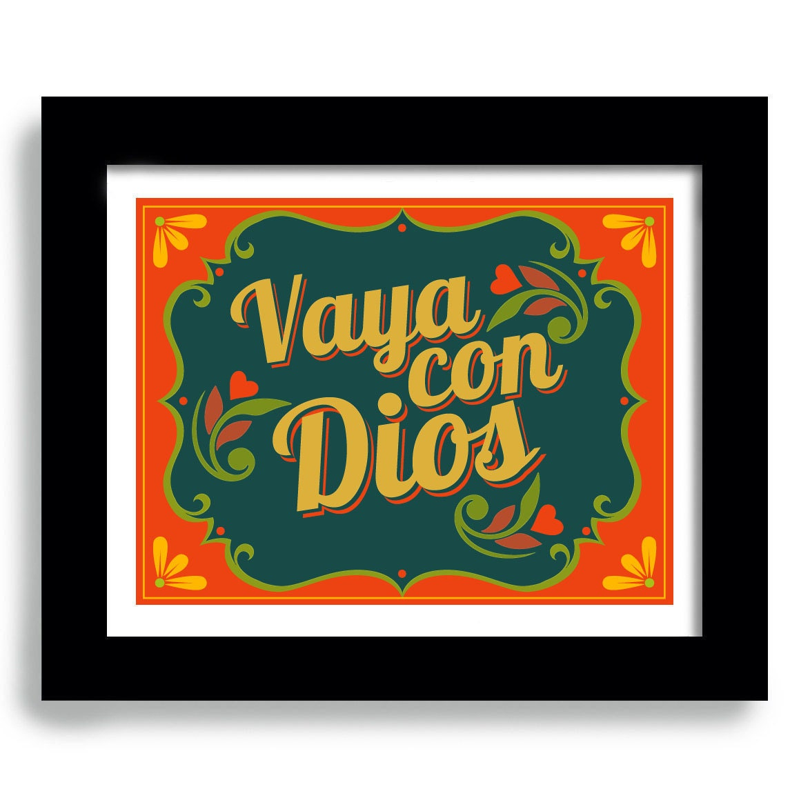 Kitchen Signs In Spanish: Items Similar To Mexican Kitchen, Spanish Home Decor, Art Print Decor, Vaya Con Dios On Etsy