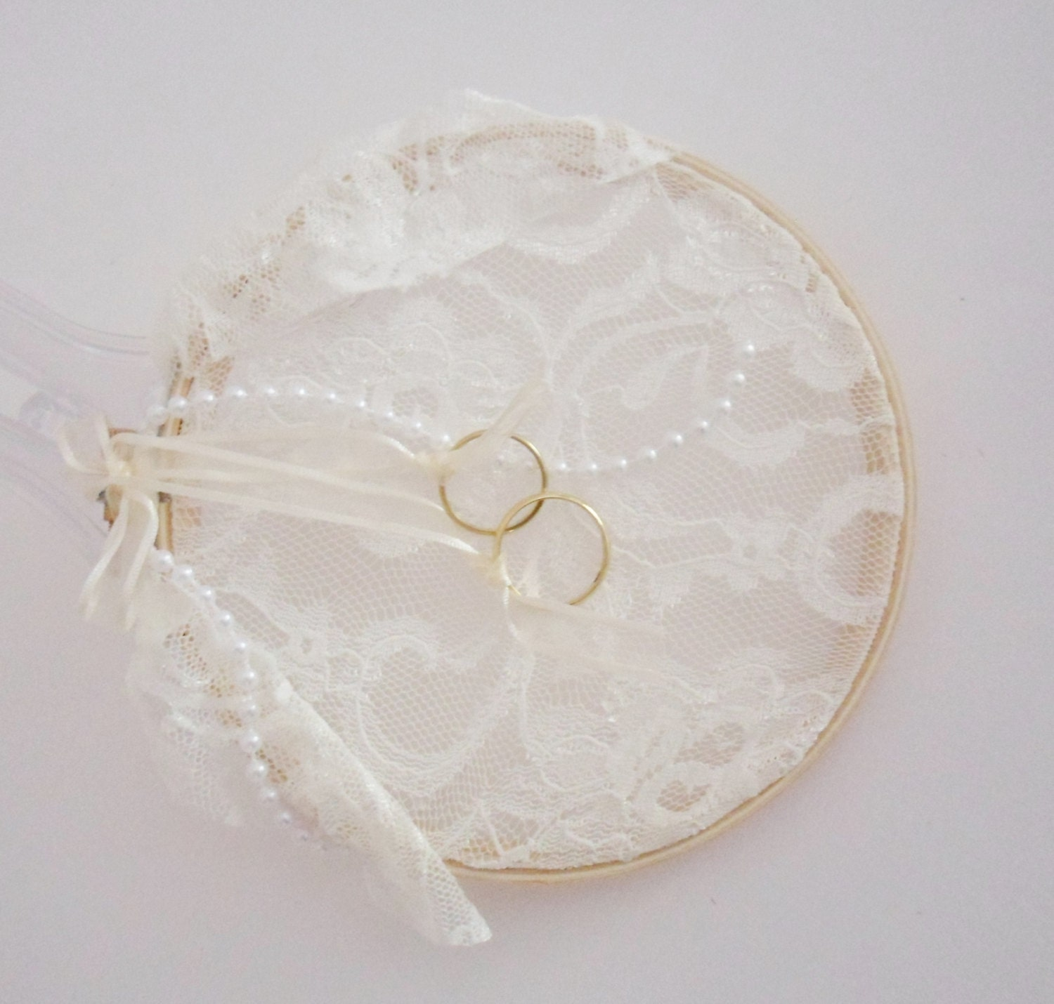Items similar to ring bearer pillow embroidery hoop