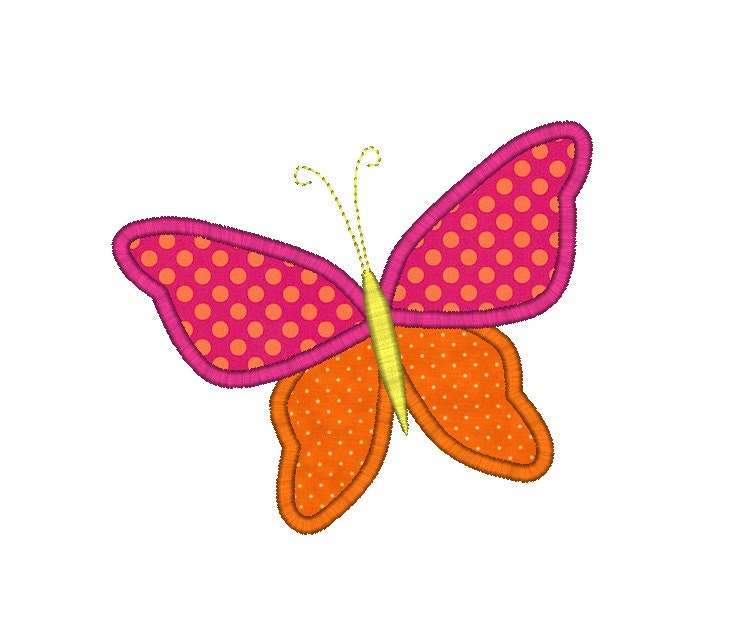 Whimsy Butterfly Applique Machine Embroidery By SewChaCha On Etsy