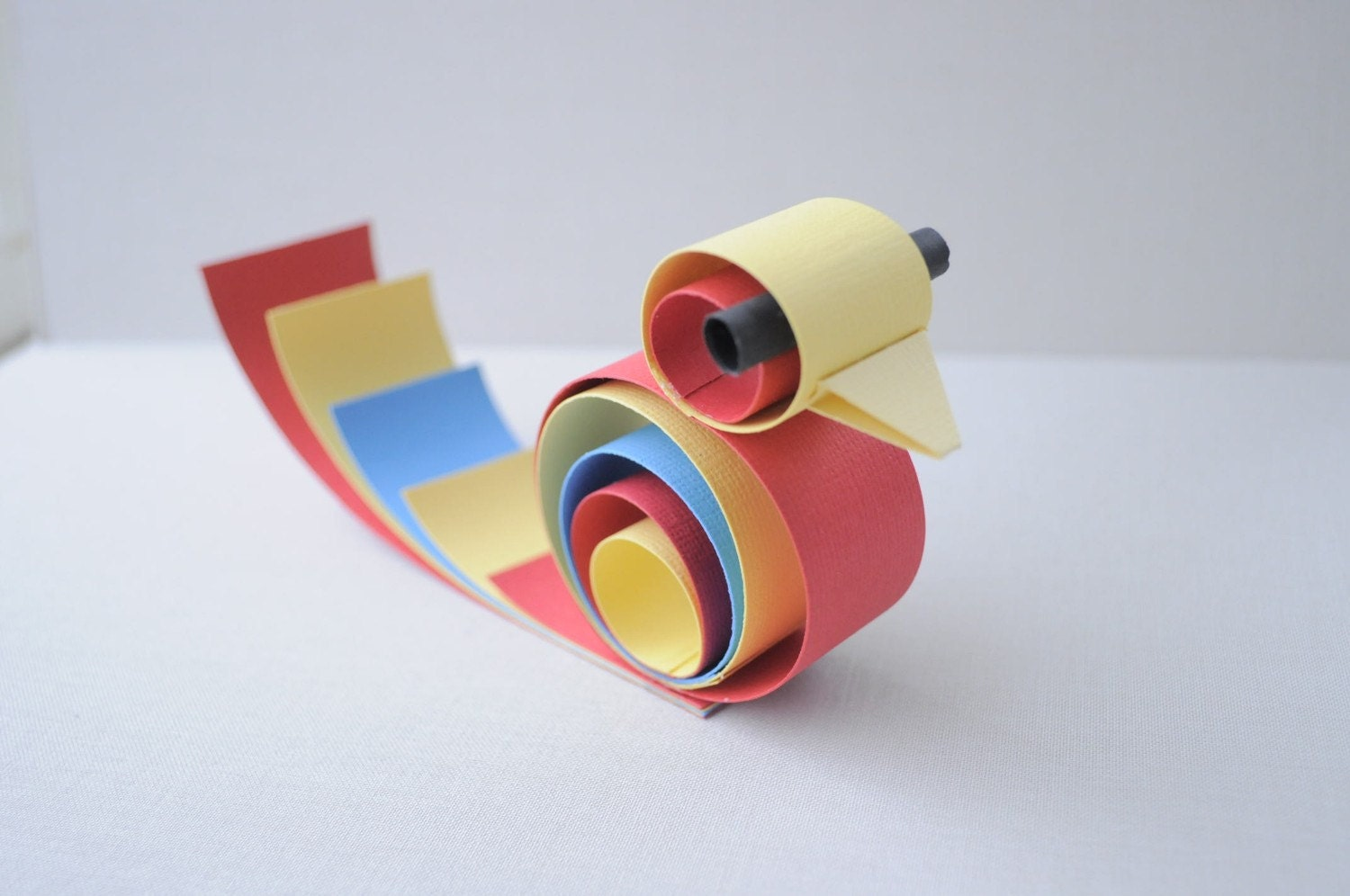 Primary colored paper bird - home decor/party favors/place card settings
