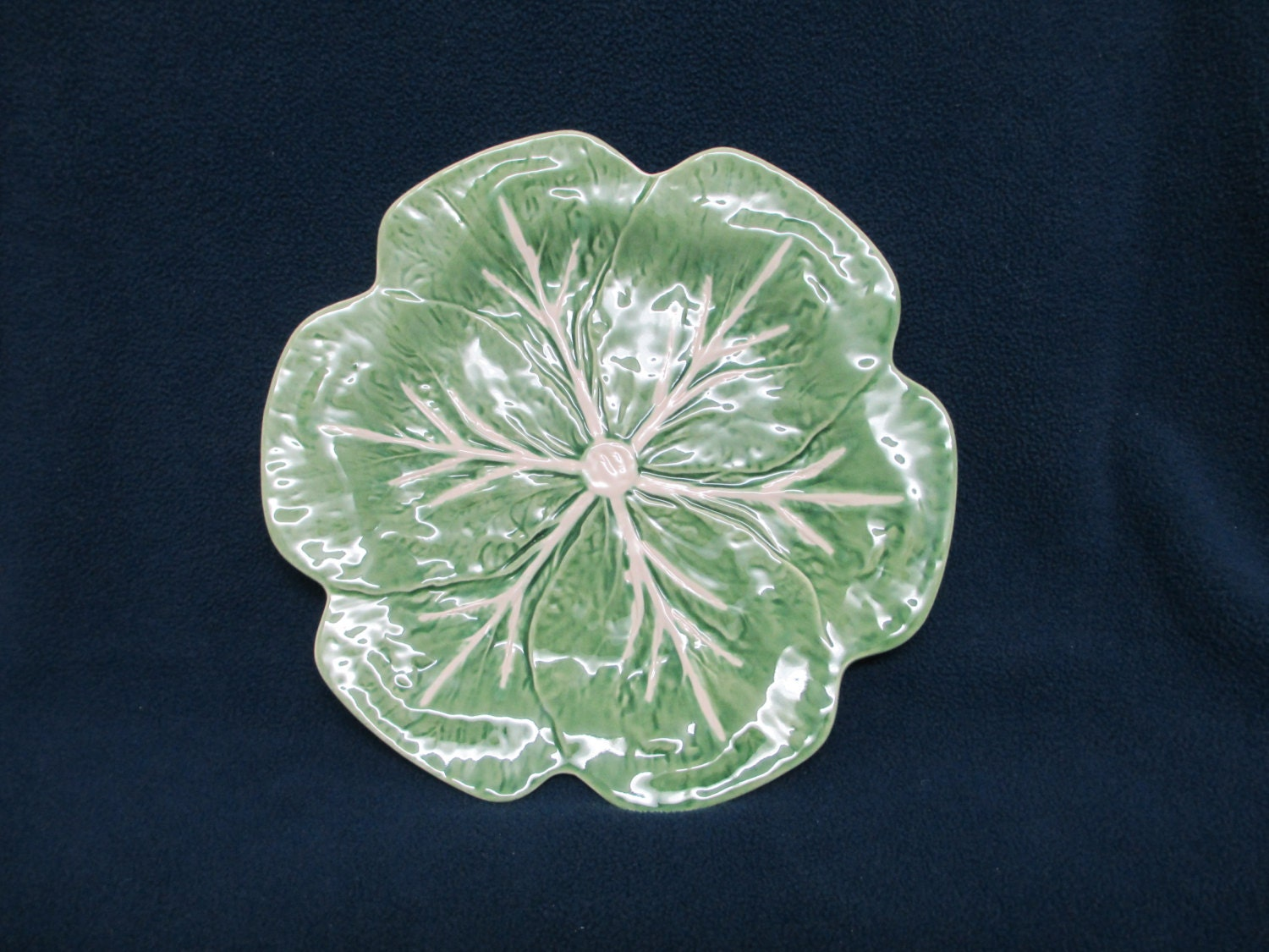 Bordallo pinheiro majolica green cabbage by kittymacscottage - Bordallo pinheiro portugal ...