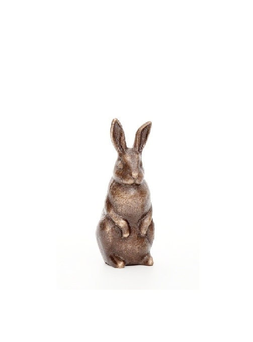 Rabbit in Bronze - small figurine standing