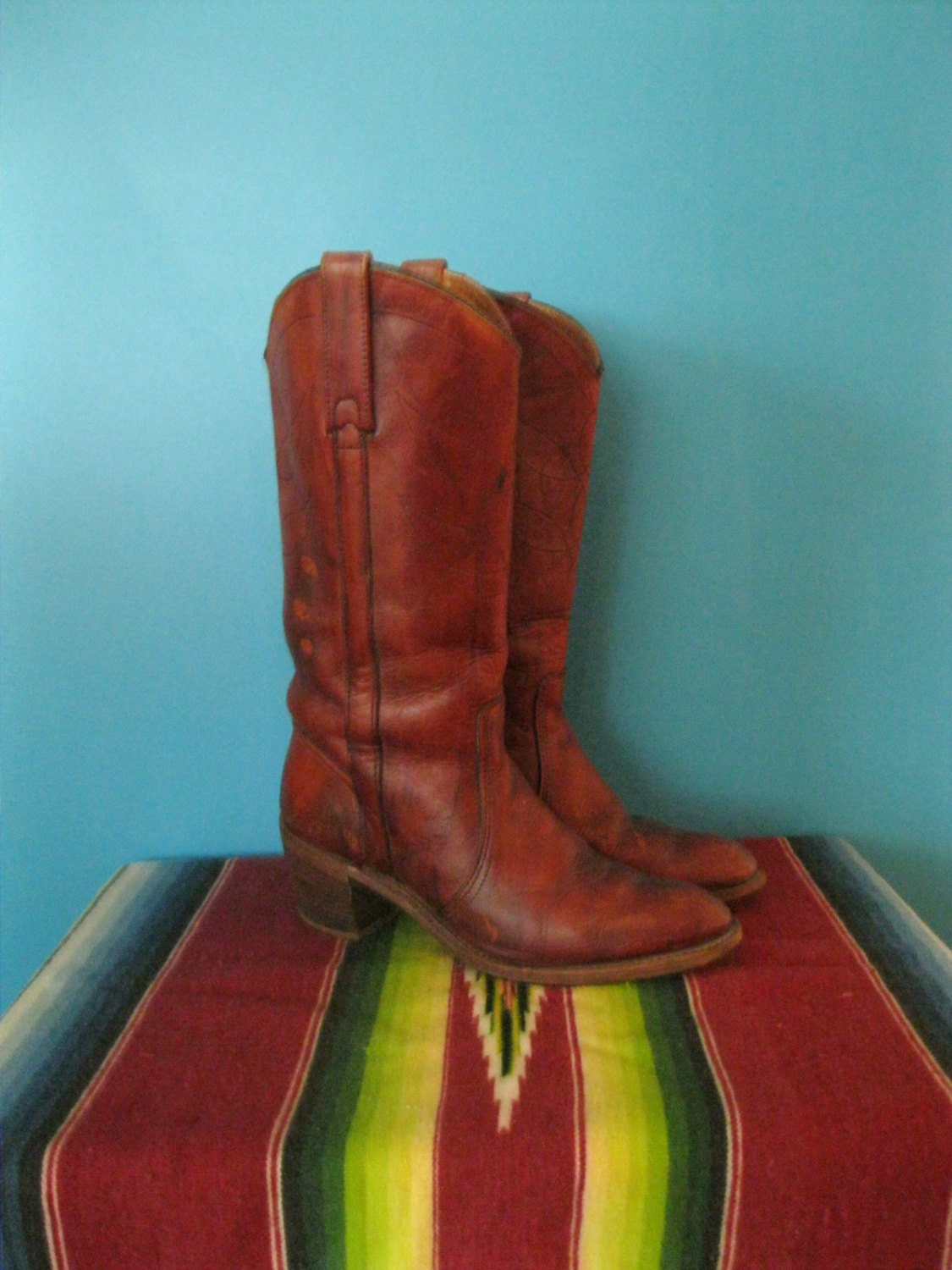"Vtg Southwest oxblood leather womens boots(7 1/2)""Miss Capezio"" - LucidLane"