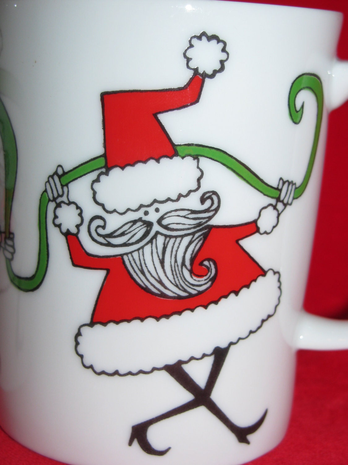 Neiman marcus christmas mugs porcelain santa by for Neiman marcus christmas cards