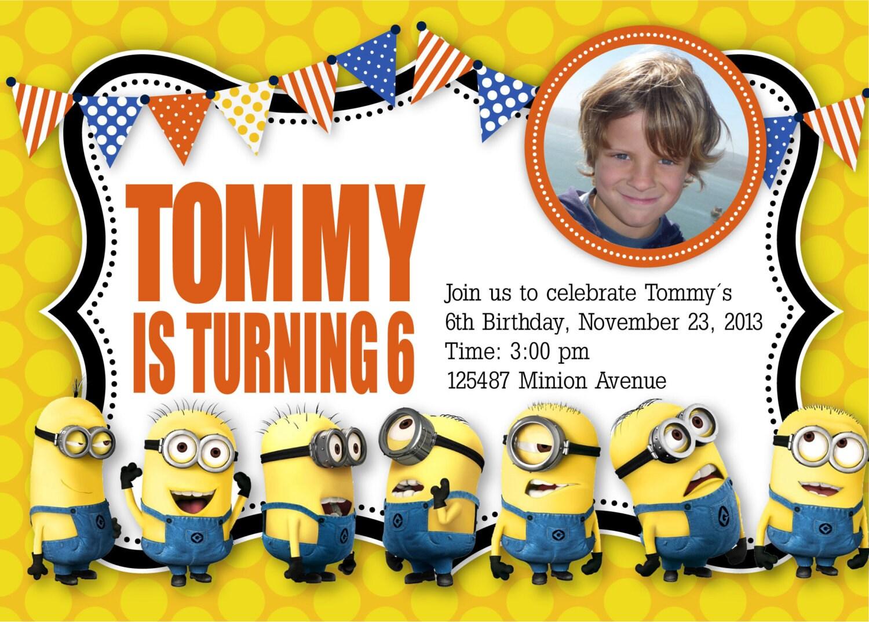 40th Birthday Ideas Minion Birthday Invitations Templates Free