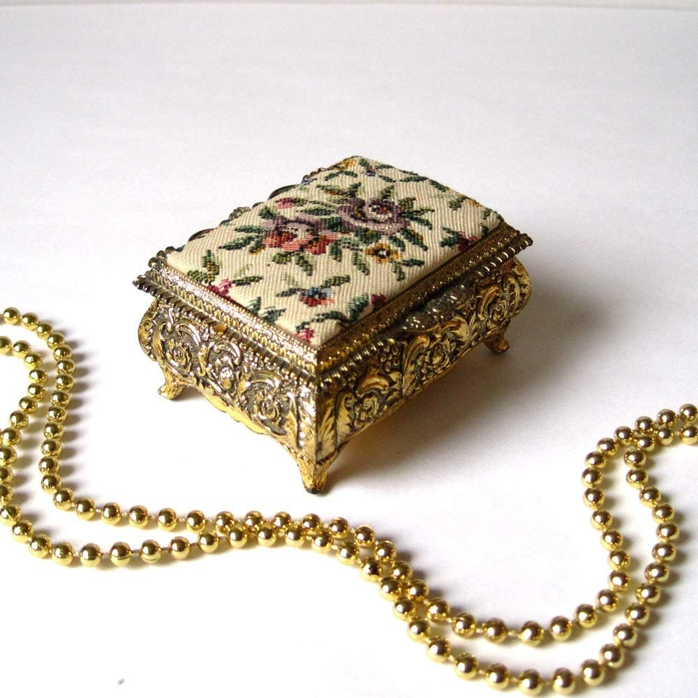 Vintage Trinket Box Made In Japan Miniature By Ephemeraandmore