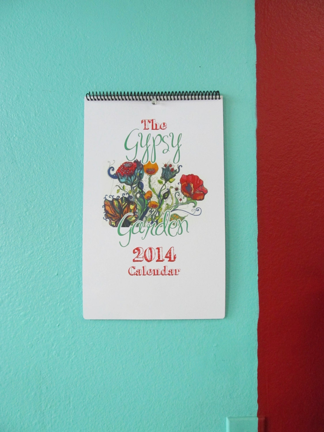 Popular items for 2014 wall calendar on Etsy