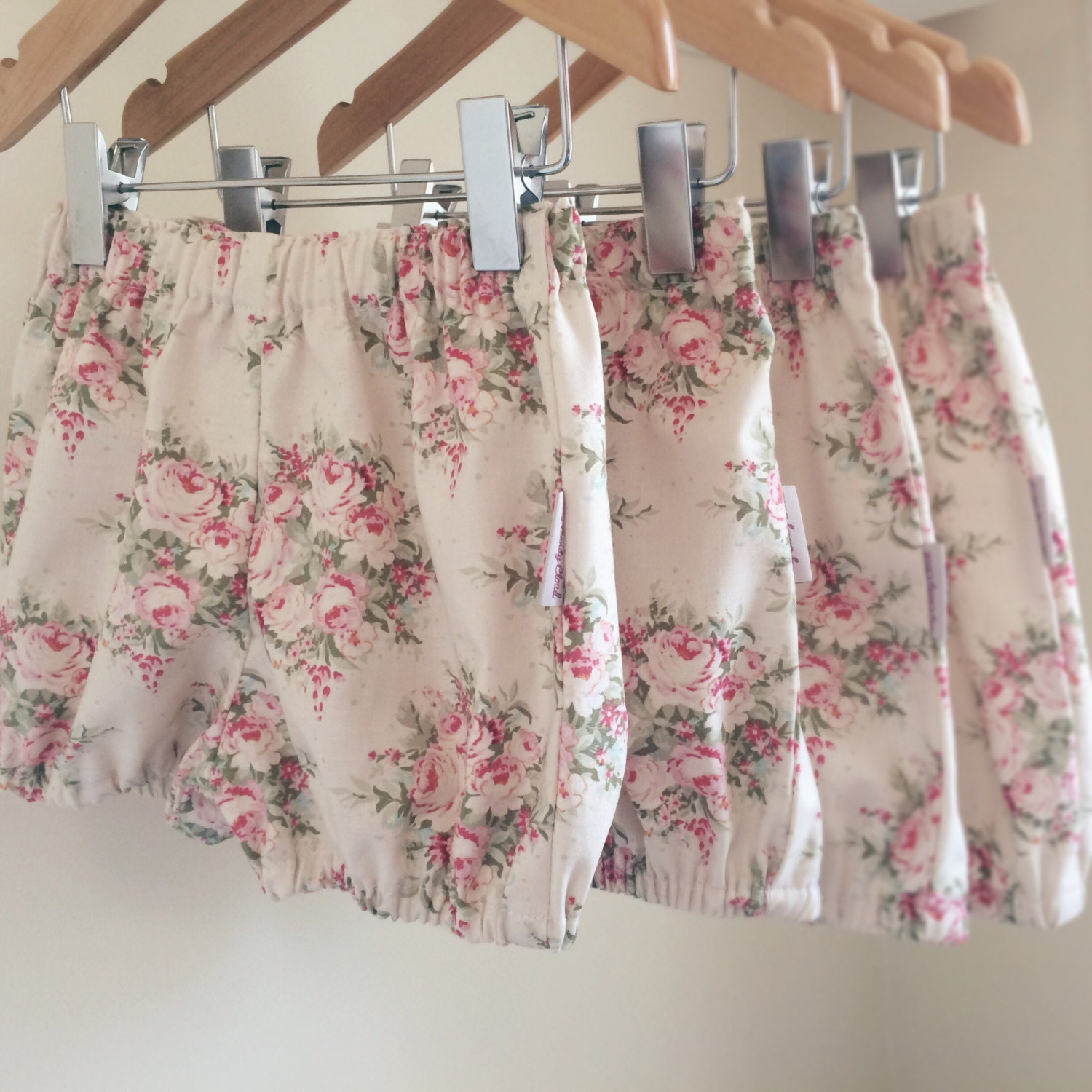 Vintage inspired girl baby bloomers Toddler bloomers Girls bloomers Baby bubble shorts Toddler bubble shorts Girls shorts UK Made to order