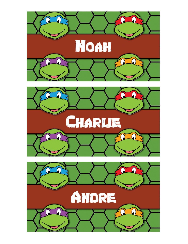 similar to PRINTABLE Name Tags, Teenage Mutant Ninja Turtles Name Tags ...