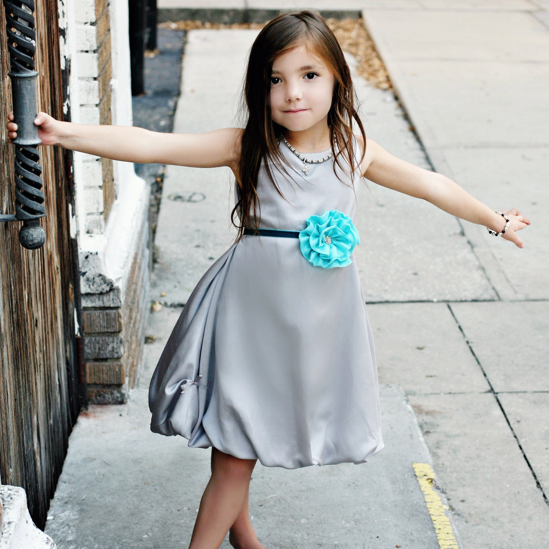 Elegant Silver Bubble Dress