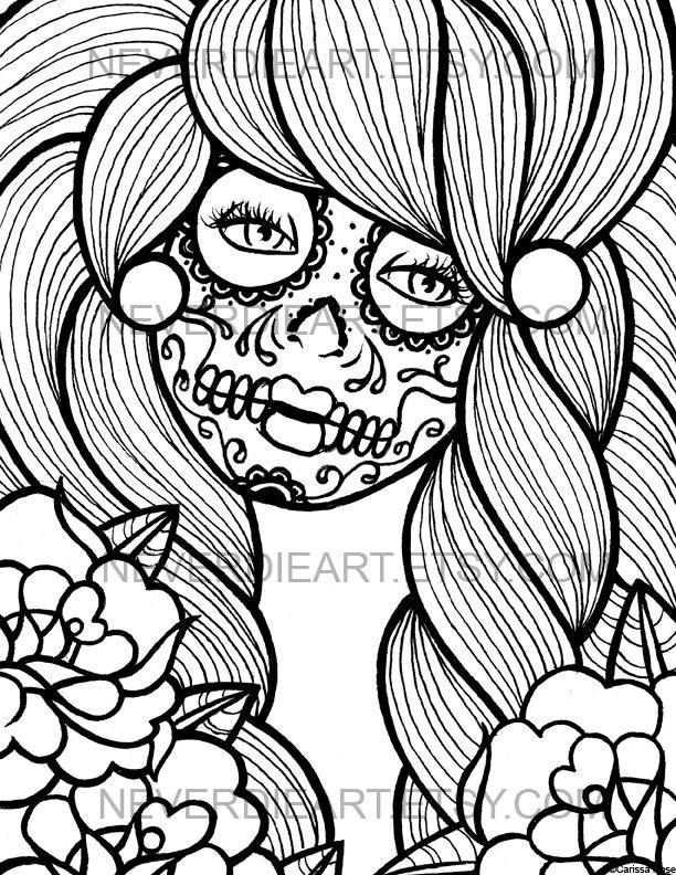 sugar skulls coloring pages - sugar skulls free coloring pages