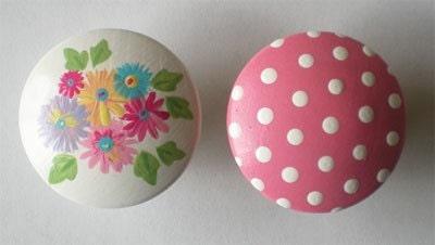Kids Bouquet Floral Drawer Knobs Nursery Cabinet Pulls - DoodlesDecor