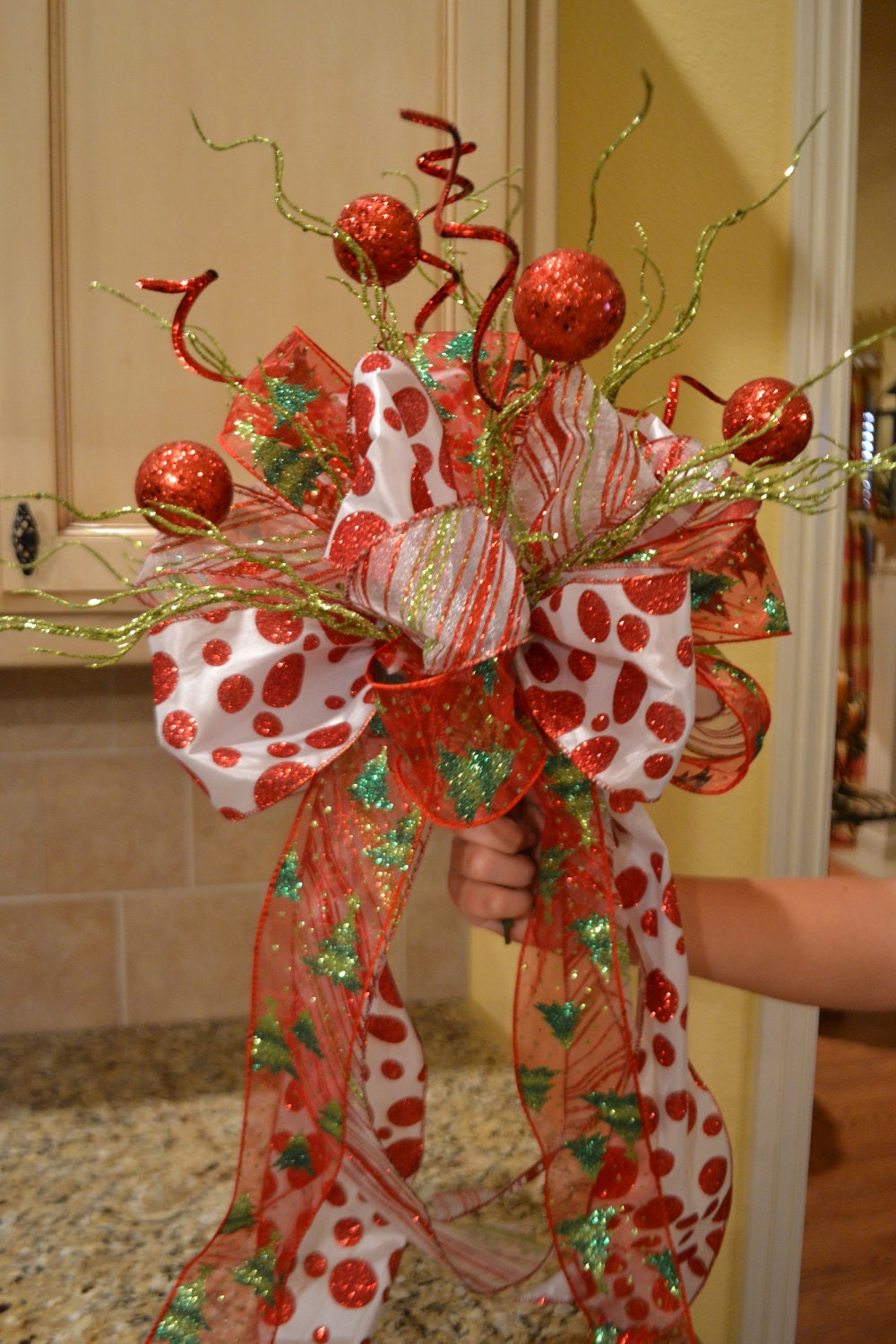 whimsical christmas tree topper by kristenscreations on etsy - Whimsical Christmas Tree Toppers