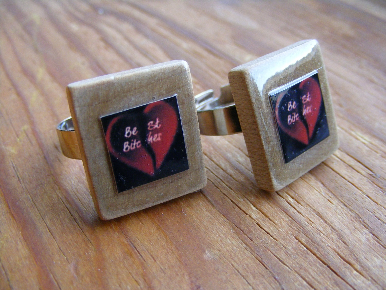 Ring Scrabble Tile Besties