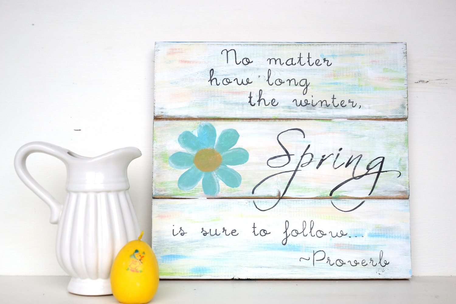 Cottage Chic Spring Sign - harbourbreeze