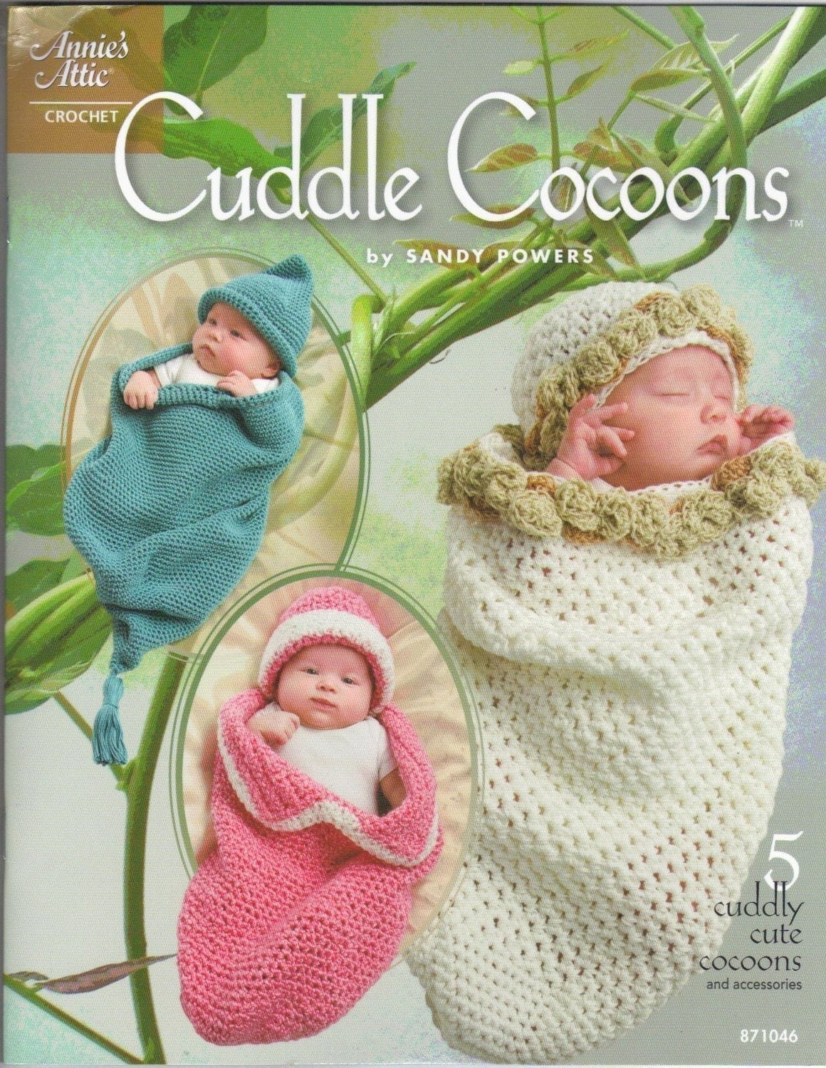 Annies Attic Crochet : Annies Attic Cuddle Cocoons Leaflet Crochet by SandysCapeCodOrig