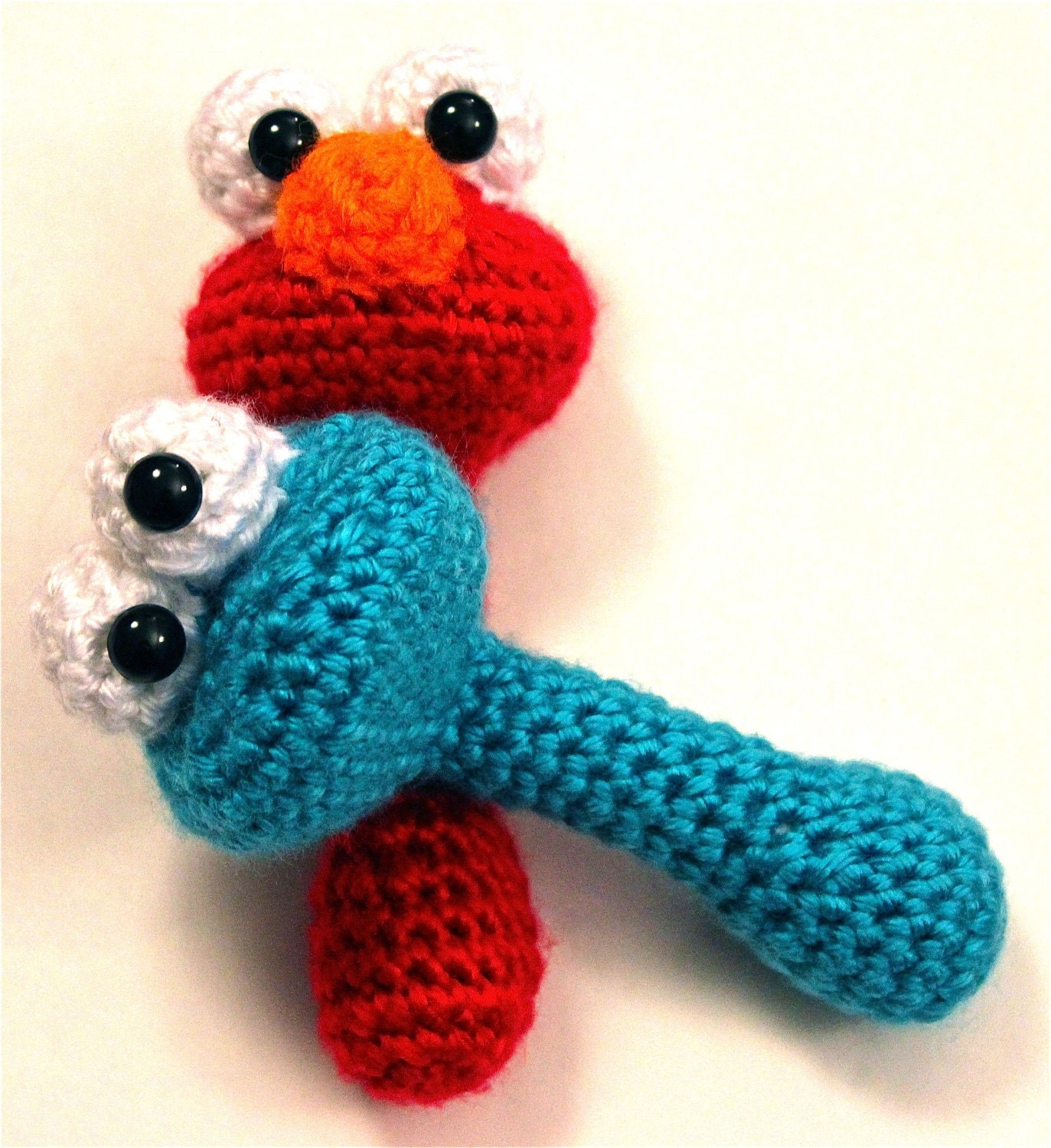 Amigurumi Cookie Monster Pattern : PATTERN Instant Download BUNDLE Elmo AND Cookie Monster by ...