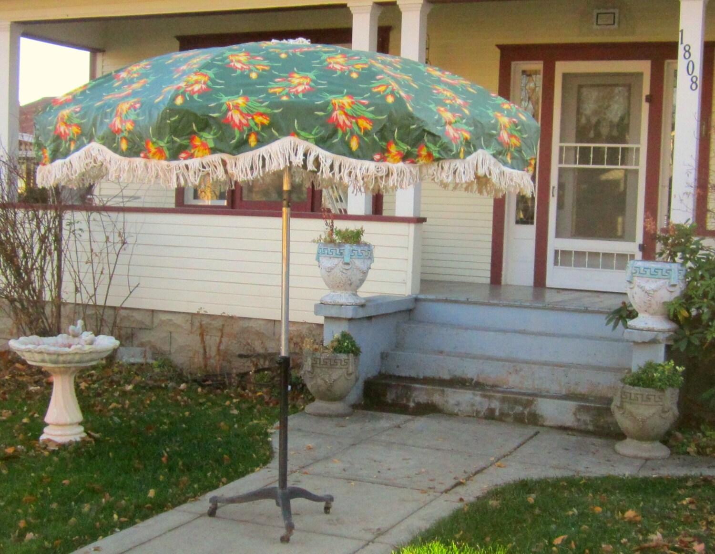 vintage umbrella for patio table heavy vinyl by
