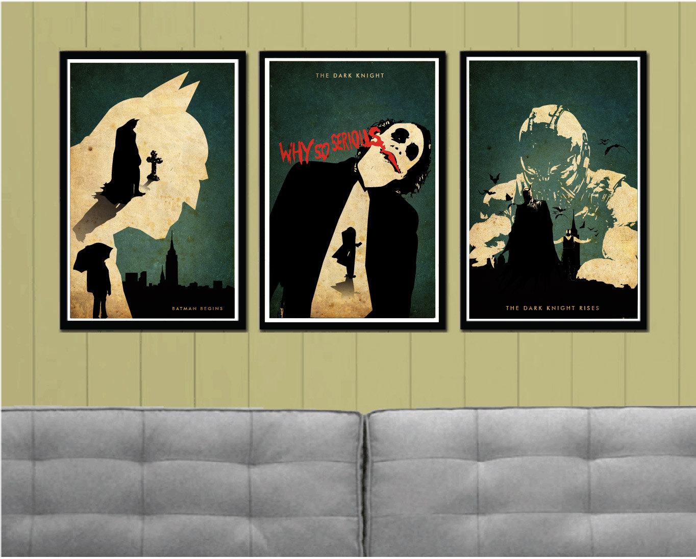 Batman Trilogy Minimalist Poster