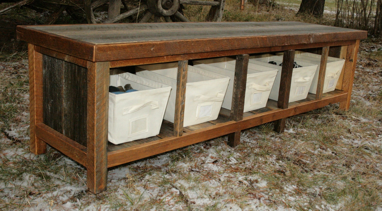 Rustic Reclaimed Entry Bench By EchoPeakDesign On Etsy
