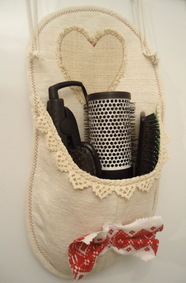 utensils holder, Bathroom decoration, Grain sack wall bag, Bathroom