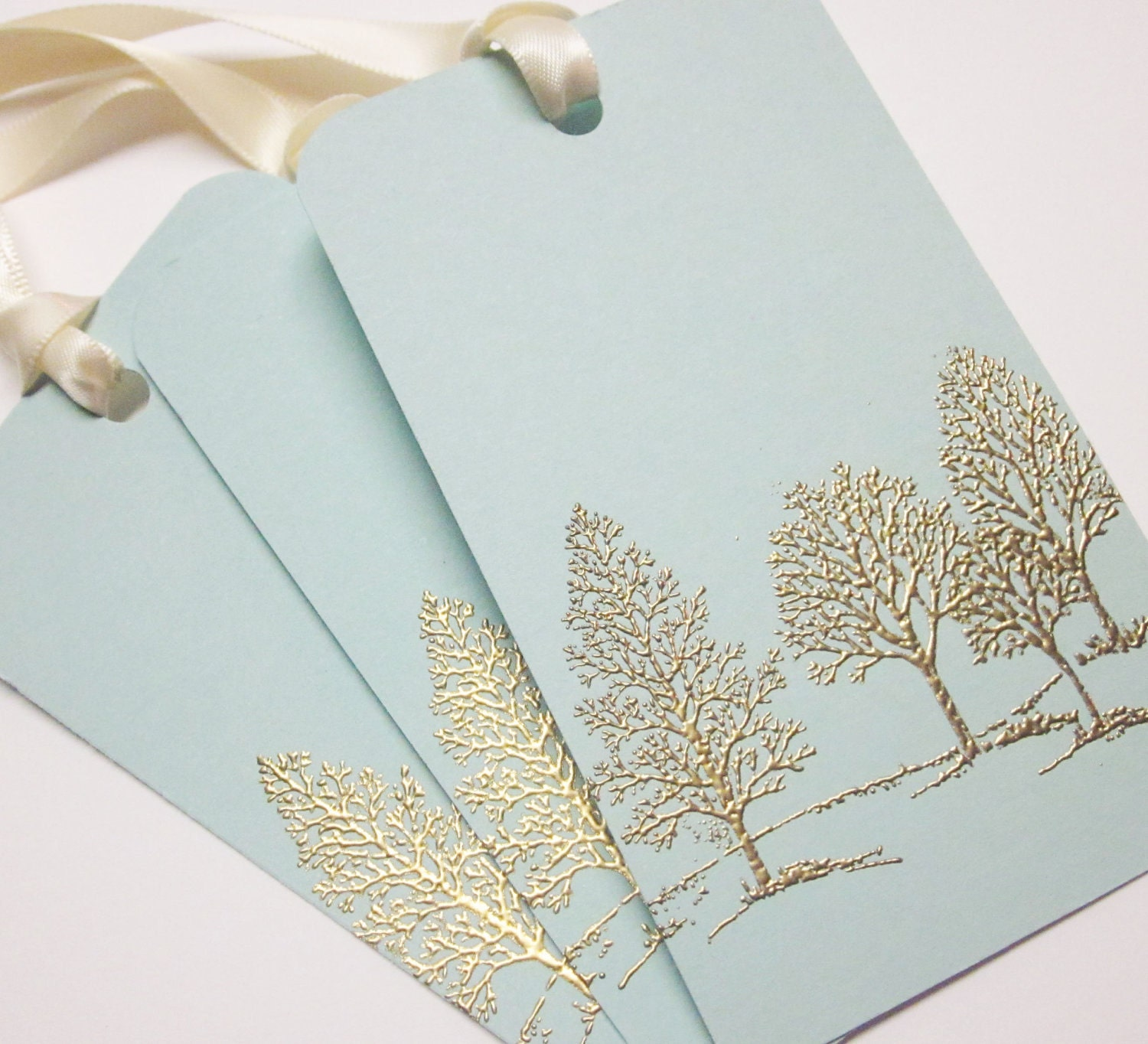Tree Wedding Wish tree tags Gift Tags favor tagsGold Embossed ...