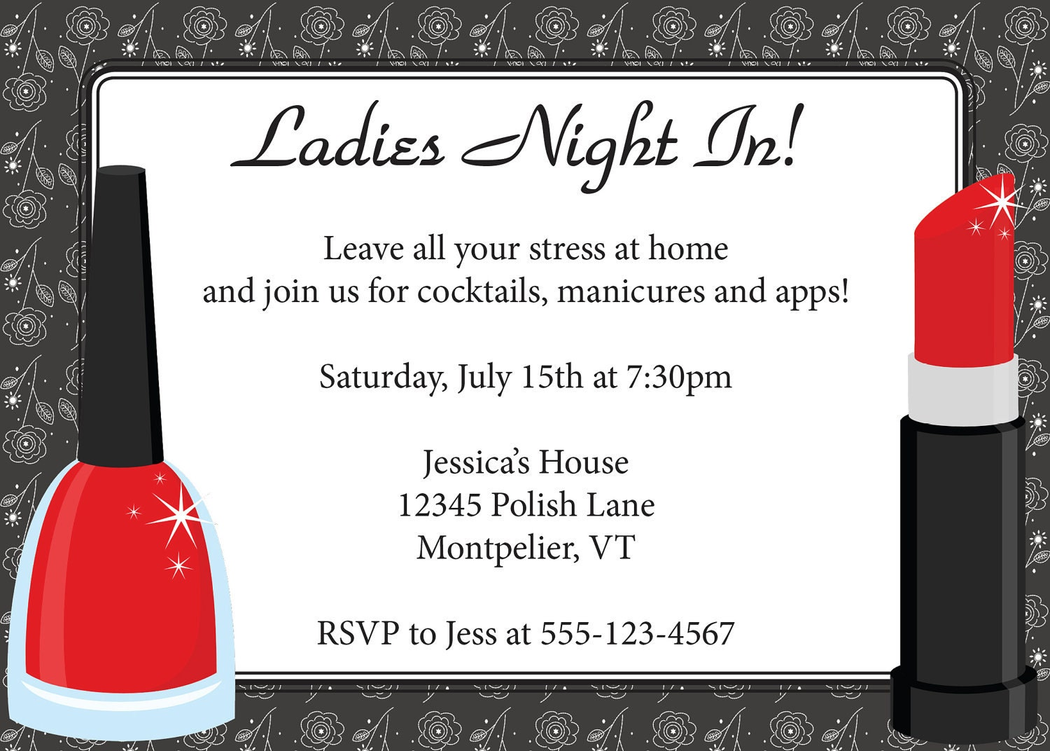 Ladies Night Invitatio...