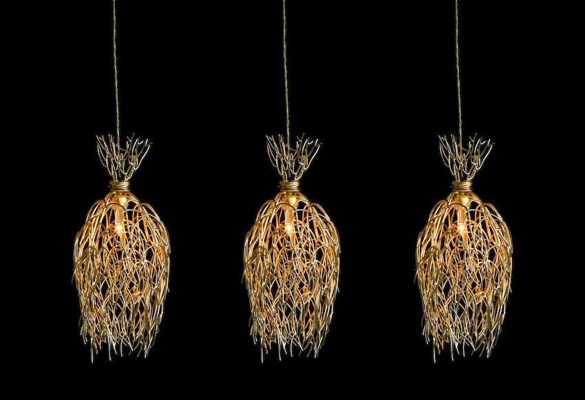 Gold Tree hanging lamp