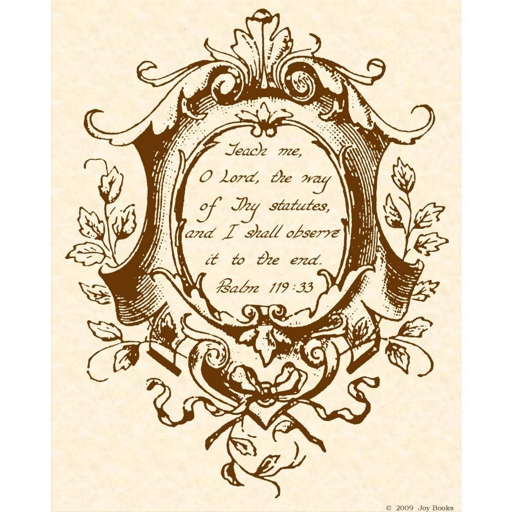 Psalm calligraphy art print by vintageverses