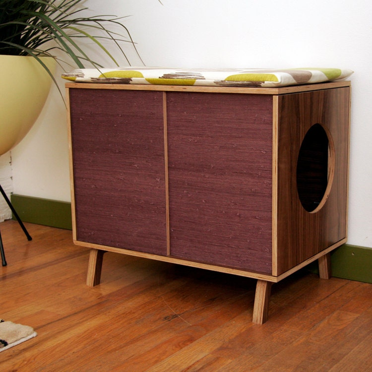 Clearance mid century modern cat furniture by modernistcat - Modern cat litter box furniture ...