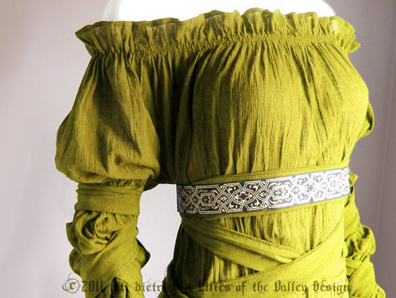 Fairy Dress. Renaissance Blouse. Plus Size. L. M. S. Organic Cotton. Mustard or Blue. Plus Size clothes. Victorian. Gothic. - PlusSizeClothing
