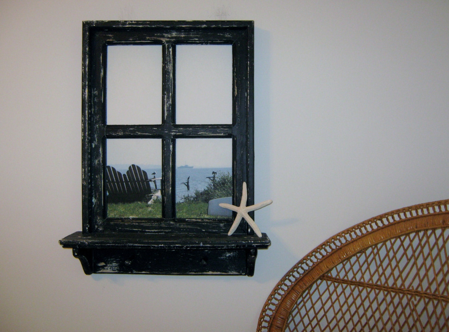 Faux Picture Frames On Walls : Window frame faux picture