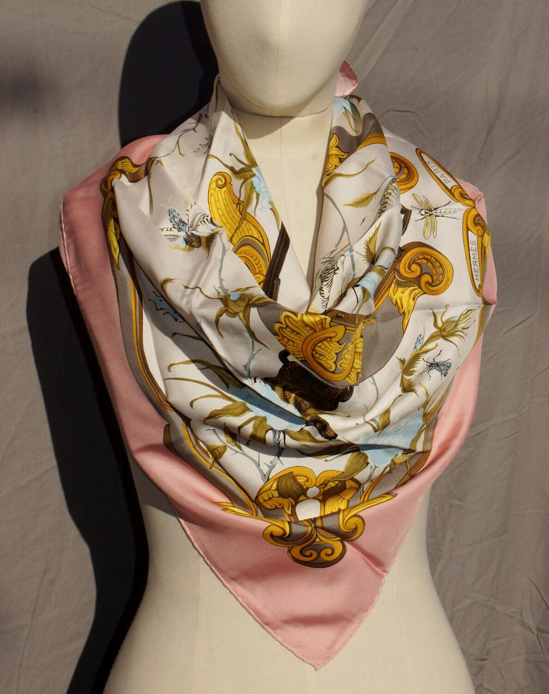 hermes ingrid large silk scarf by starshinevintage on etsy