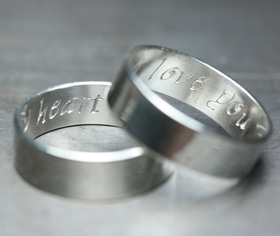 secret promise rings custom engraved with by imakecutestuff