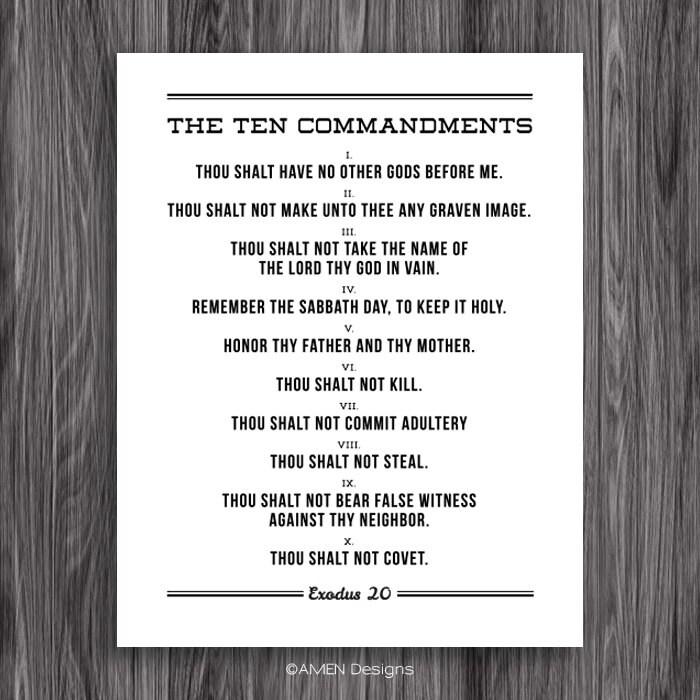 "The Ten Commandments. Printable Design. For 11x14"" frames ..."