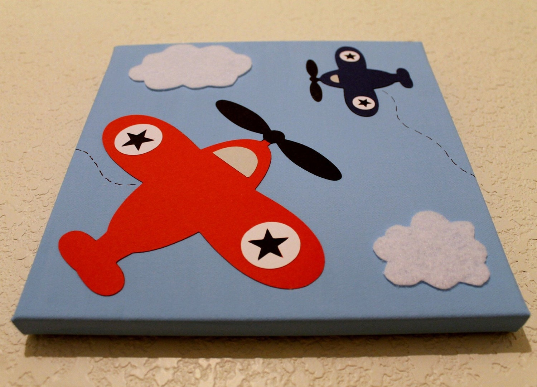 Airplane Wall Decor Nursery : Wall decor airplane baby nursery kids by diannasdiapercakes