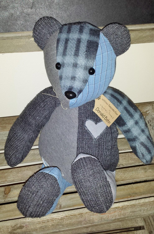 Memory Bear Keepsake Bear Custom Teddy Bear By Reskewed On