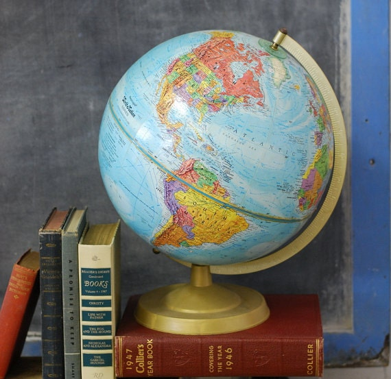 vintage globe home decor vintage world globe by lilymairi