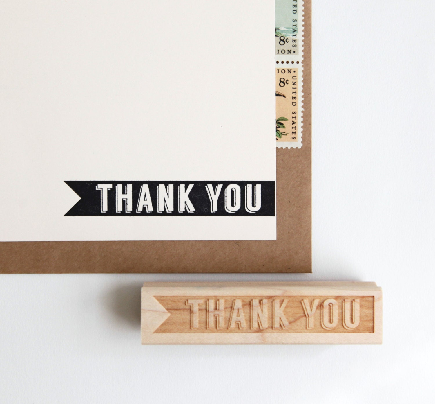 Thank You Rubber Stamp In Retro Typography By
