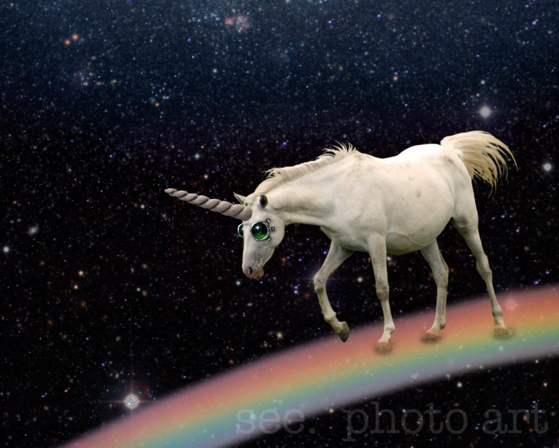 space unicorn. 8x10 photo print (free shipping) - SeePhotoArt