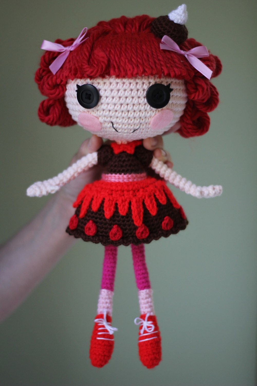 Схеме: Lalaloopsy Choco Вихрь Swirl Amigurumi Вязаные куклы