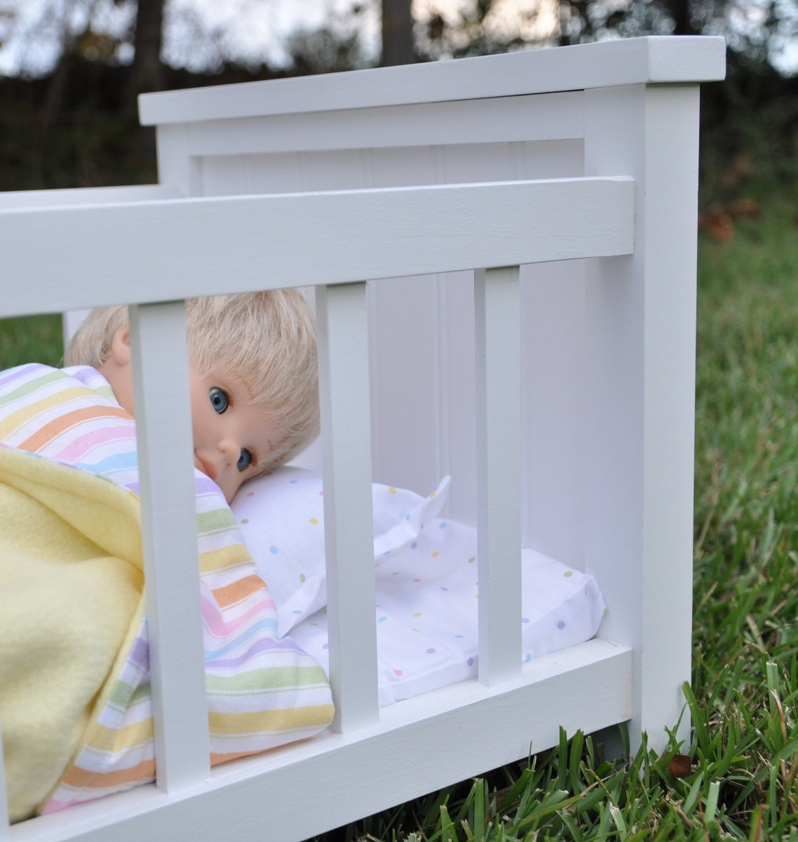 Bitty Baby Doll Crib With Complete 5 Piece By