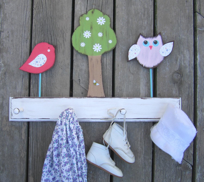 Daisy Garden Одежда Стойка Пальто Дети Керамика Barn Вдохновленный экологию древесины Storytime АРТ